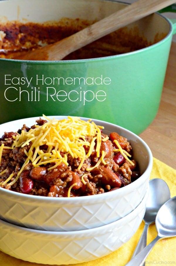 Easy Homemade Chili Recipe