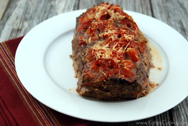 Italian style meatloaf from Katie's Cucina
