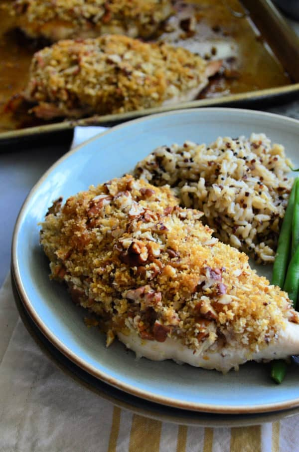 Pecan Chicken Breast Dinner