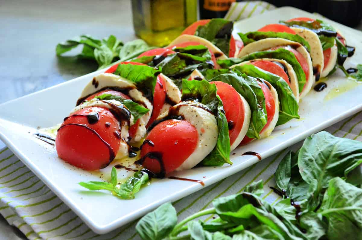 Caprese with Balsamic Reduction Sauce Recipe
