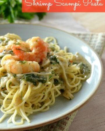 Shrimp Scampi Pasta | KatiesCucina.com @KatiesCucina #recipe #seafood #shrimp #pasta