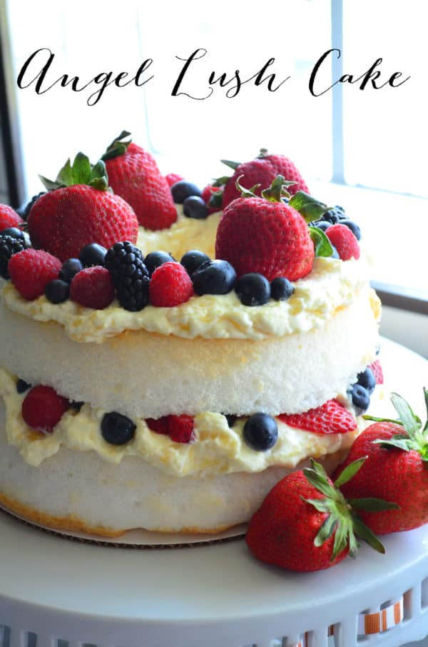 Angel Lush Cake with Berries