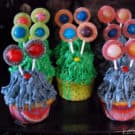 Furballs and String Monsters Cupcakes