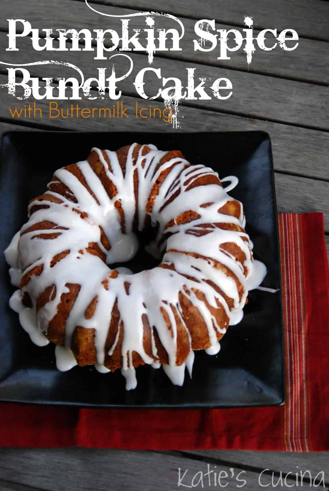 Pumpkin Spice Bundt Cake with Buttermilk Icing