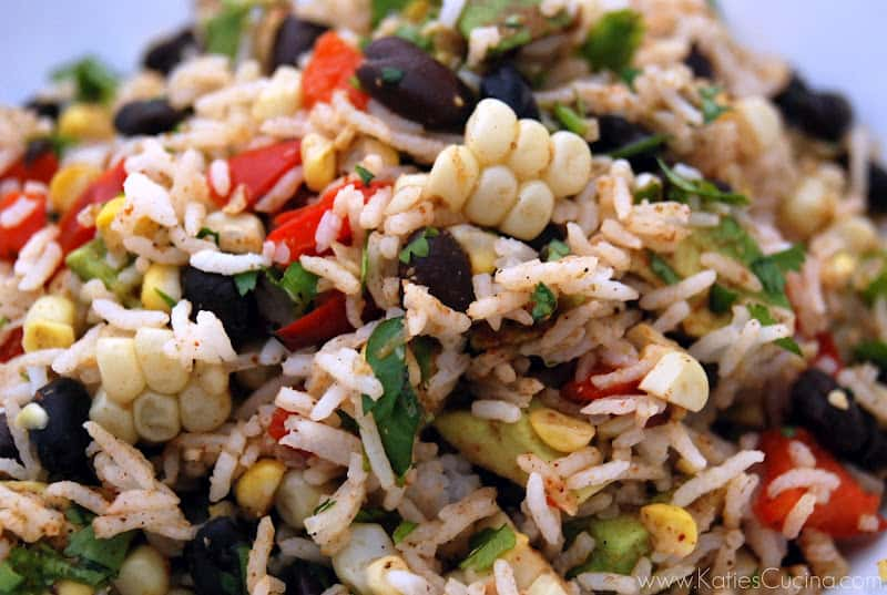 Herbed Rice And Spicy Black Bean Salad Recipe — Dishmaps