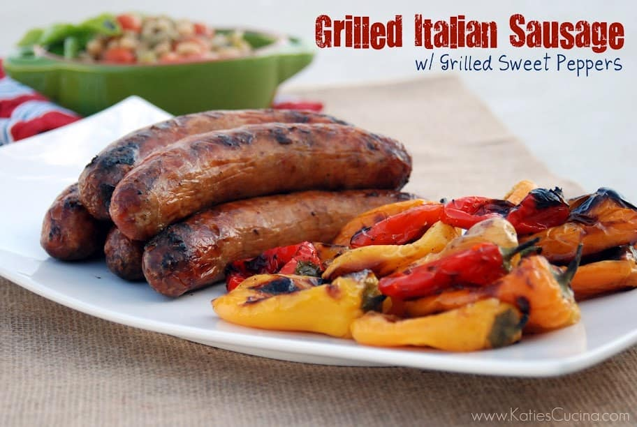 Grilled Italian Sausage w/ Grilled Sweet Peppers