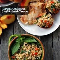 Israeli Couscous Stuffed Peaches