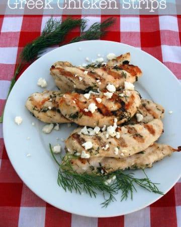 Grilled Greek Chicken Strips