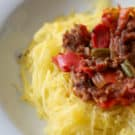 Spaghetti Squash with Sauce