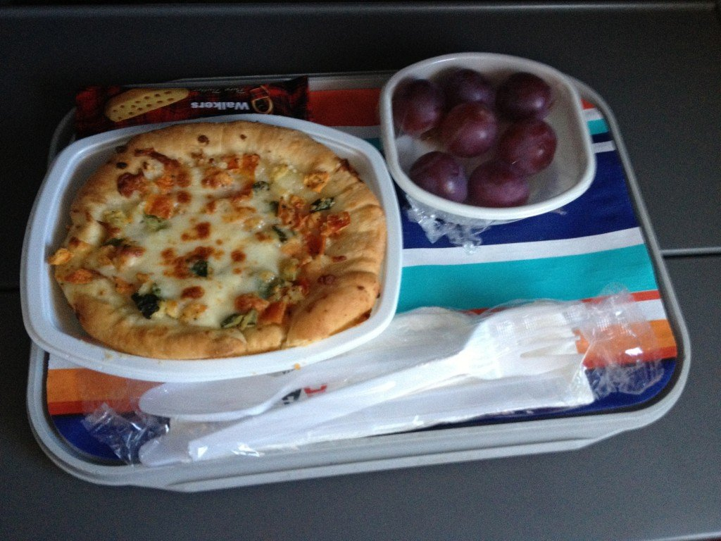airplane hot snack