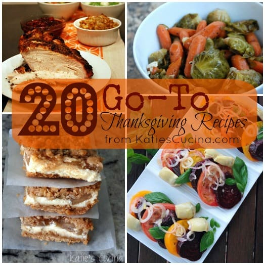 20 Thanksgiving Go-To Recipes from KatiesCucina.com