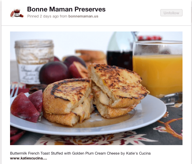 Buttermilk French Toast Stuffed with Golden Plum Cream Cheese by Katie's Cucina
