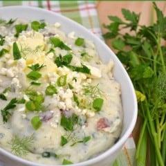 Feta and Herb Mashed Potatoes