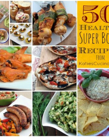 50 Healthy Super Bowl Recipes #appetizers #entertaining #recipes #superbowl #football