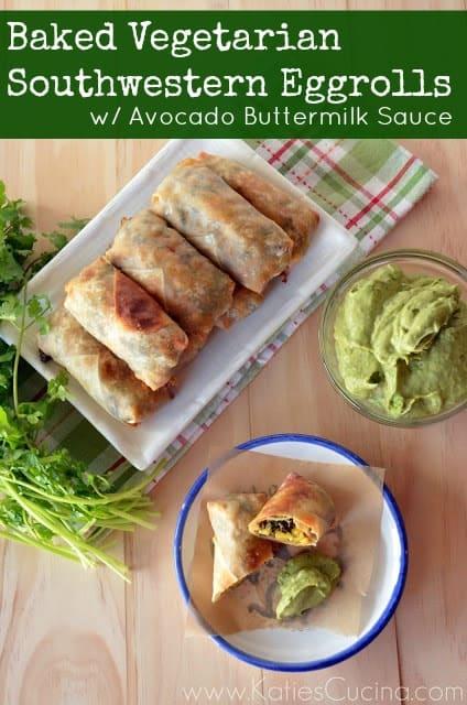 Baked Vegetarian Southwestern Eggrolls