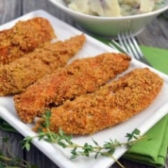 Crunchy-Baked Chicken Strips