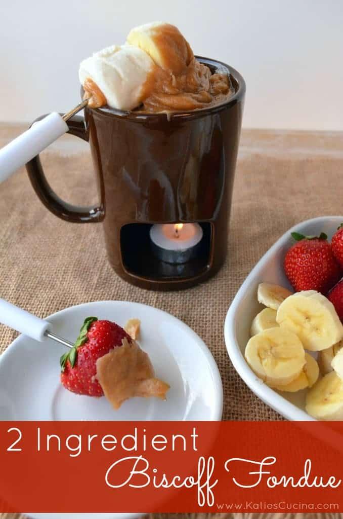 2 Ingredient Biscoff Fondue #fondueweek #valentinesday #biscoff #recipe