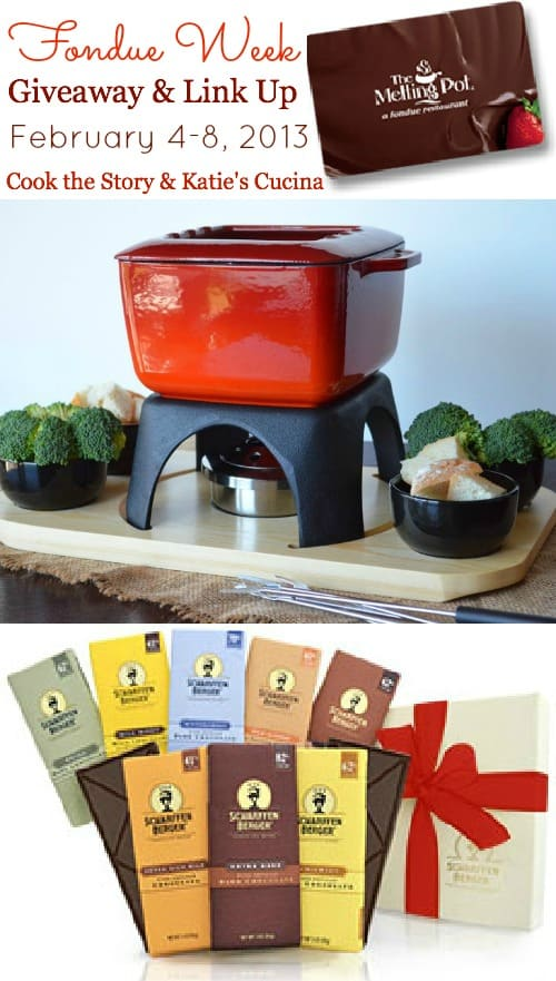 Fondue Week Giveaway & Link Up with Cook the Story & Katie's Cucina #FondueWeek #Giveaway