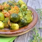 {Guest Post from Katie's Cucina} Smoked Paprika and Shallot Brussels Sprouts #recipe #vegetarian #sidedish