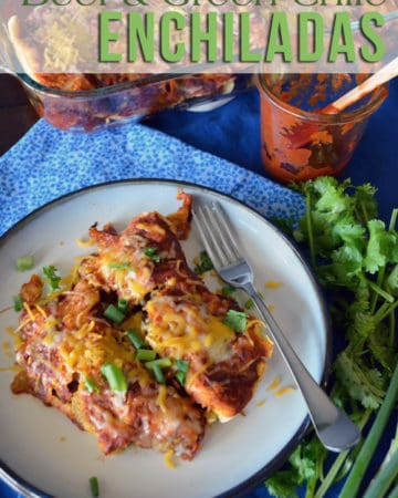 Beef & Green Chile Enchiladas from KatiesCucian.com