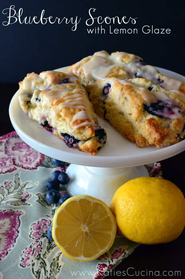 Blueberry Scones with Lemon Glaze - Katie's Cucina