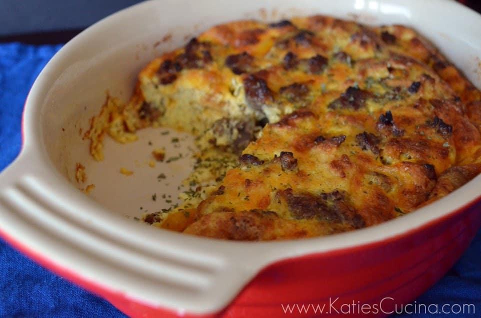 Sausage, Egg, & Veggie Casserole | Katie's Cucina
