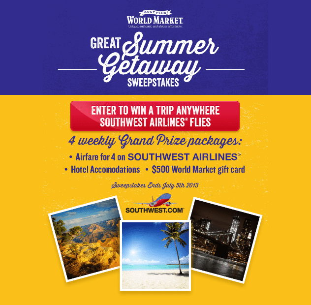 Summer Getaway with Cost Plus World Market