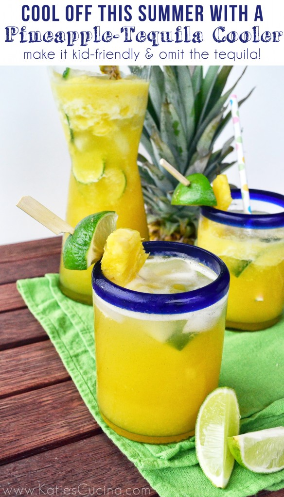 Pineapple-Tequila Cooler from KatiesCucina.com #recipe #drinks #summer #tequila