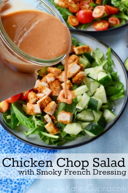 Chicken Chop Salad with Smoky French Dressing from KatiesCucina.com