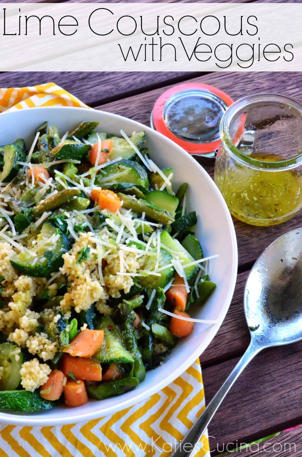 Lime Couscous with Veggies from KatiesCucina.com #recipe #couscous