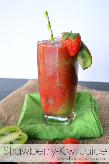 Strawberry-Kiwi Juice from KatiesCucina.com