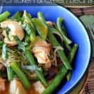 Thai Red Curry Chicken & Green Beans from KatiesCucina.com #recipe #thai #hometakeout