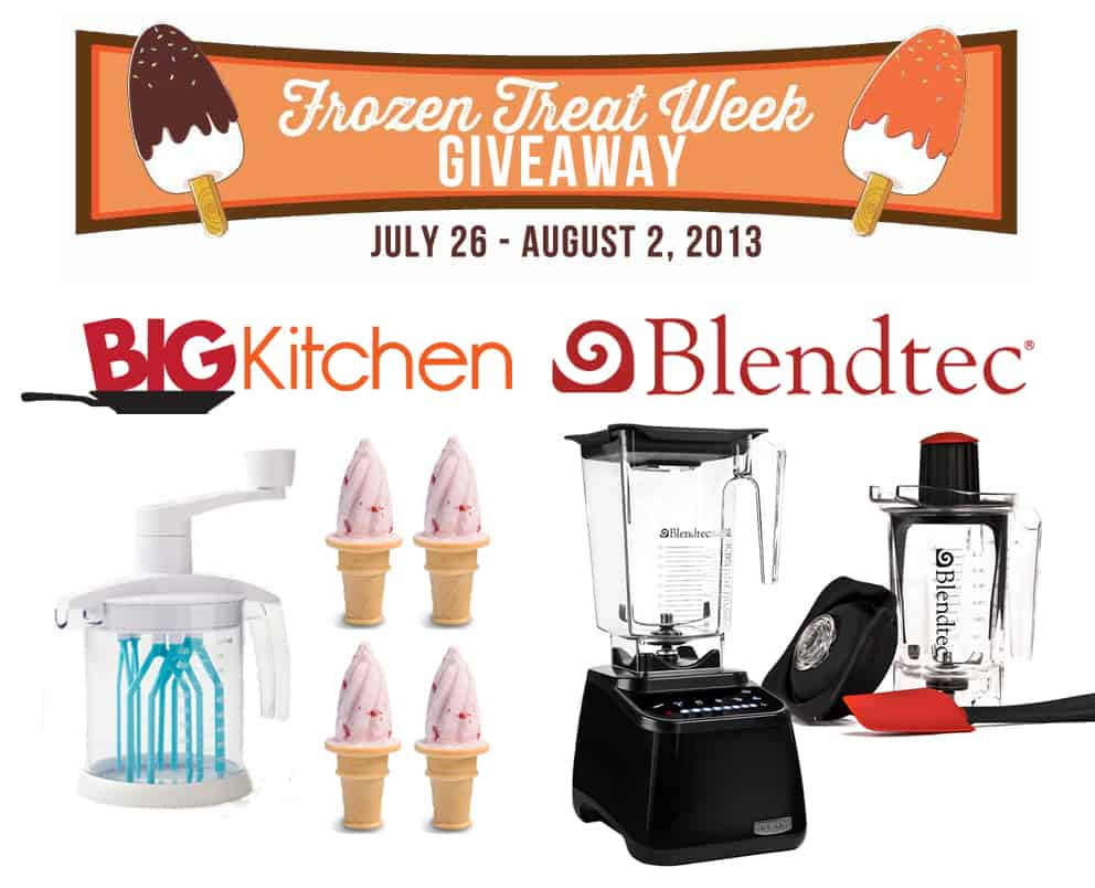 Blendtec and BigKitchen Giveaway via KatiesCucina.com #FrozenTreatWeek