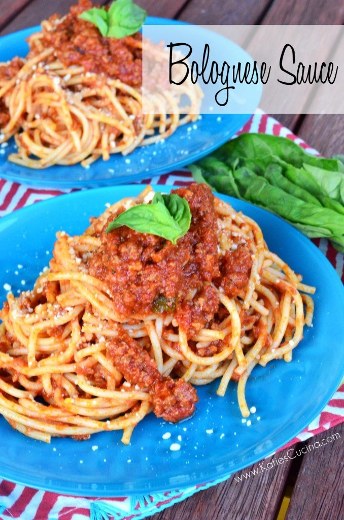 Bolognese Sauce from KatiesCucina.com