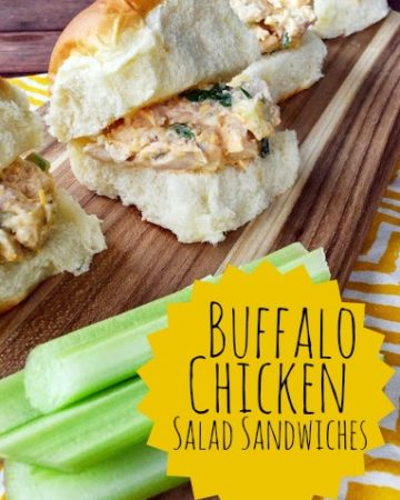 Buffalo Chicken Salad Sandwiches from KatiesCucina.com