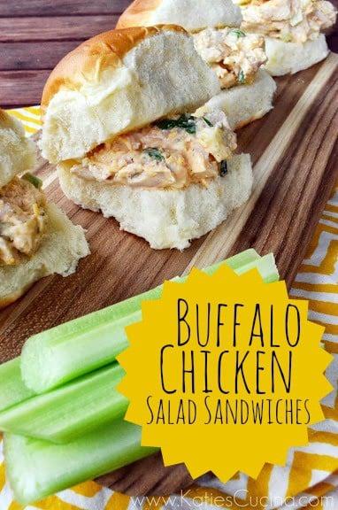 Buffalo Chicken Salad Sandwiches from KatiesCucina.com