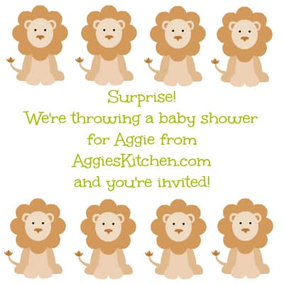 aggie's baby shower invite