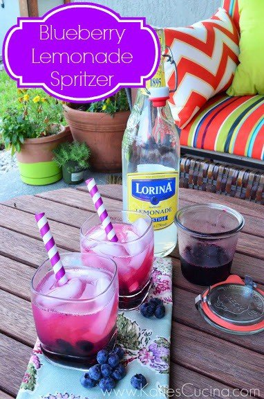Blueberry Lemonade Spritzer from KatiesCucina.com