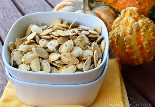 Italian Seasoned Roasted Pumpkin Seeds