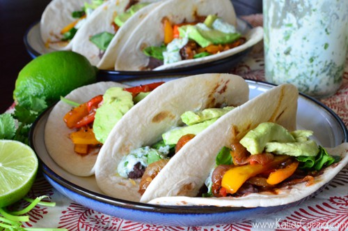 Vegetarian Black Bean Fajitas