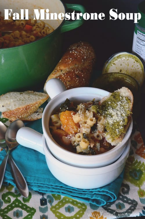 Fall Minestrone Soup from KatiesCucina.com