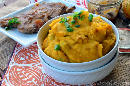 Ginger Butternut Squash Mashed Potatoes