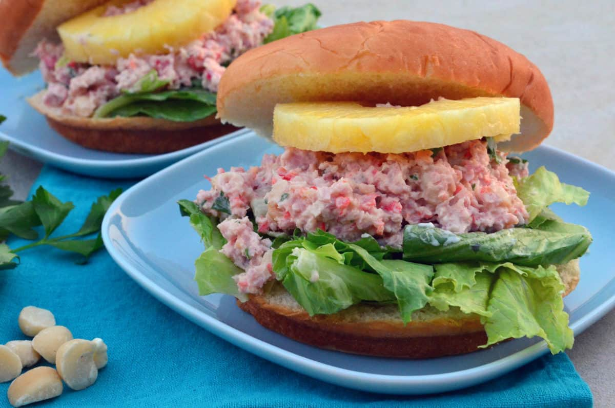 Tropical Ham Salad Sandwiches