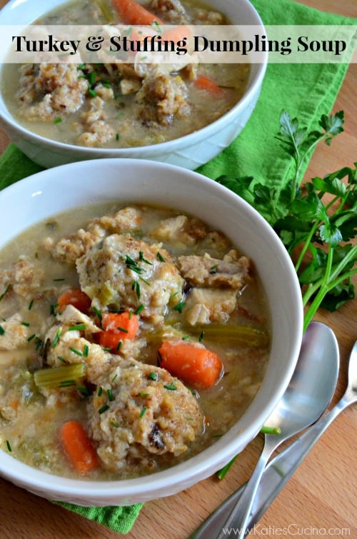 Turkey & Stuffing Dumpling Soup