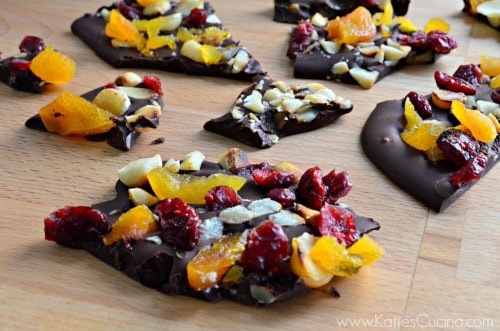 Dark Chocolate Macadamia Nut Bark