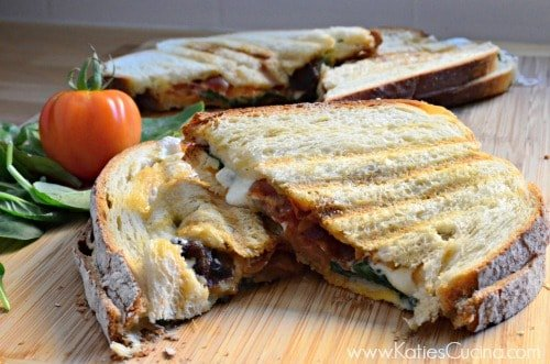 BLT with Mozzarella and Sundried Tomato Panini