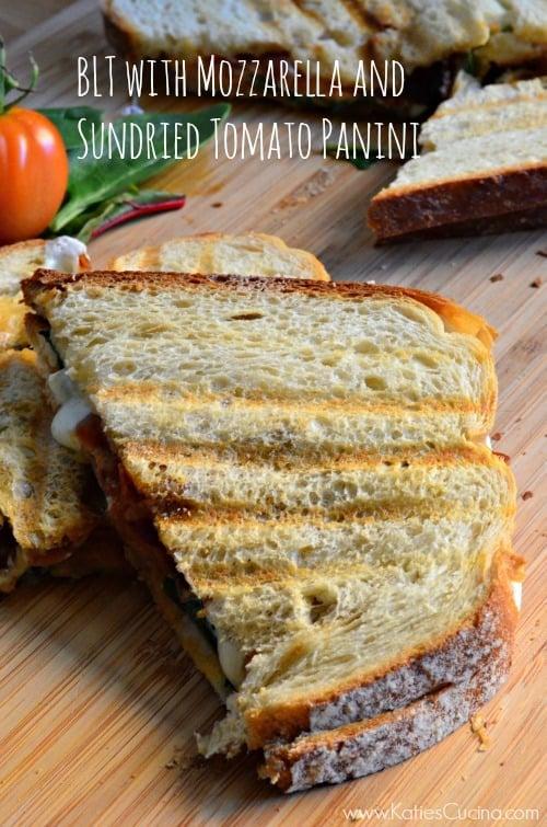 BLT with Mozzarella and Sundried Tomato Panini