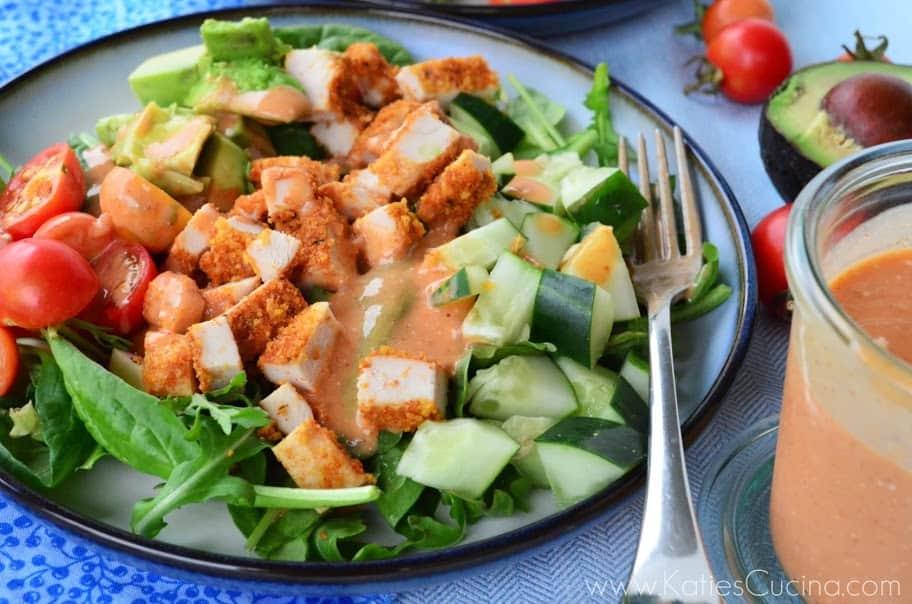 Chicken Chop Salad W Smoky French Dressing