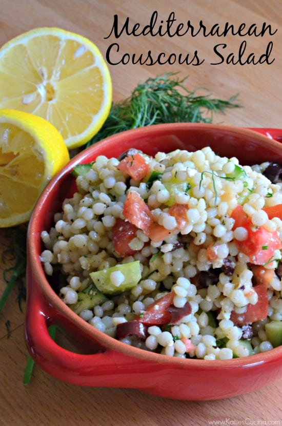 Healthy and quick Mediterranean Couscous Salad
