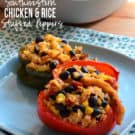 Southwestern Chicken & Rice Stuffed Peppers